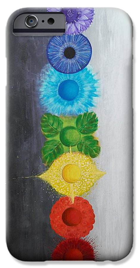 Christine Noble IPhone 6s Case featuring the painting Chakra Painting by Christine Noble