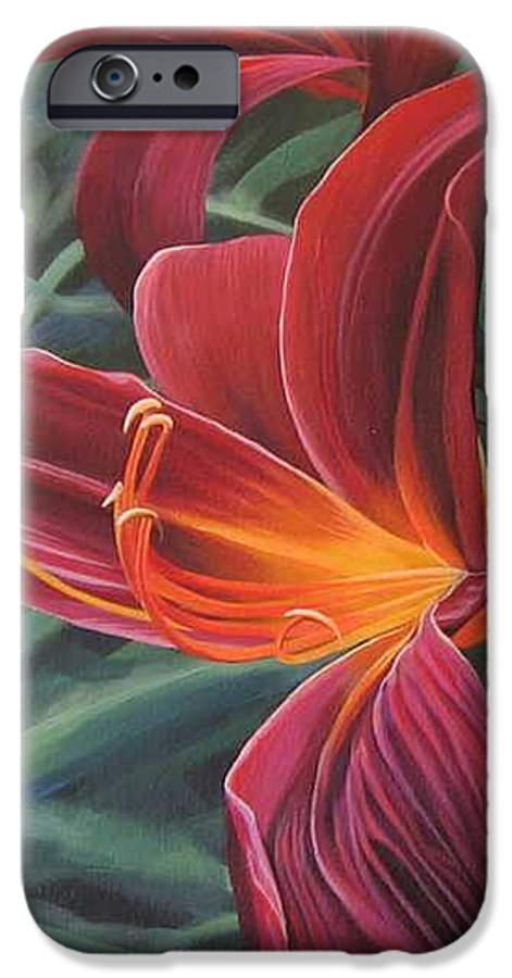 Lily Near Cheesman Park IPhone 6s Case featuring the painting Chase The Sun by Hunter Jay