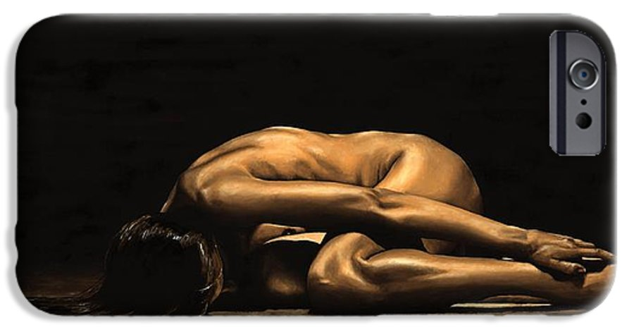 Nude IPhone 6s Case featuring the painting Chastity by Richard Young