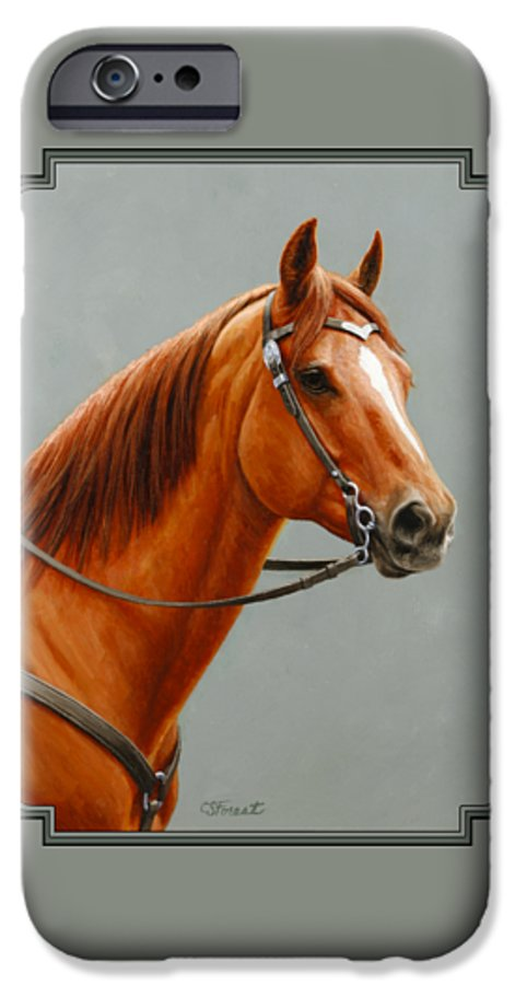 Horse IPhone 6s Case featuring the painting Chestnut Dun Horse Painting by Crista Forest