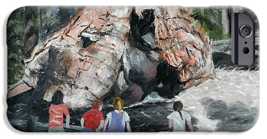 Children IPhone 6s Case featuring the painting Children At Sequoia National Park by Quwatha Valentine