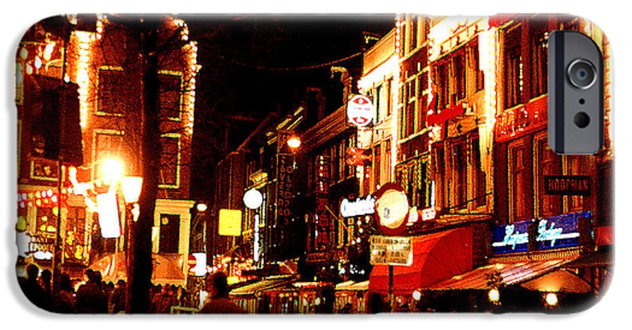Night IPhone 6s Case featuring the photograph Christmas In Amsterdam by Nancy Mueller