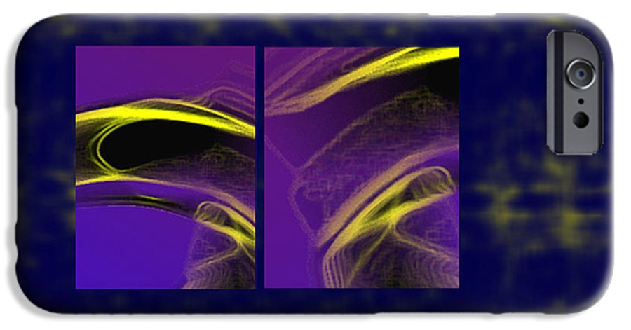 Abstract IPhone 6s Case featuring the digital art Cobra by Steve Karol