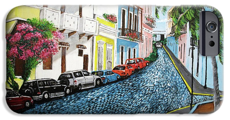 Old San Juan IPhone 6s Case featuring the painting Colorful Old San Juan by Luis F Rodriguez