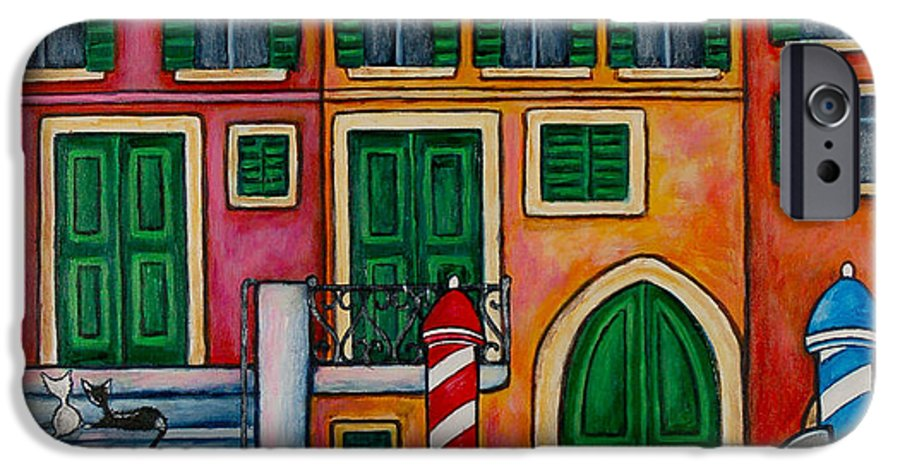 Venice IPhone 6s Case featuring the painting Colours Of Venice by Lisa Lorenz