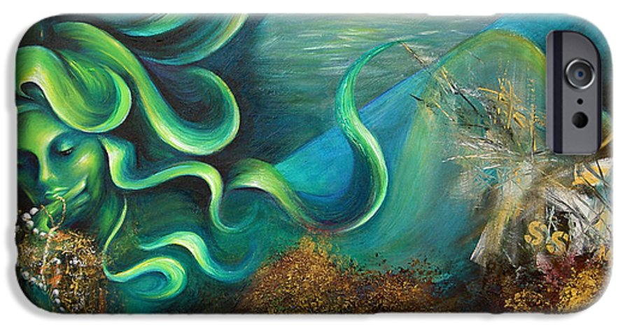Ocean IPhone 6s Case featuring the painting Confessions Of A Mermaid by Dina Dargo