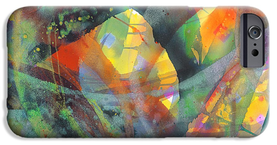 Abstract IPhone 6s Case featuring the painting Connections by Lucy Arnold