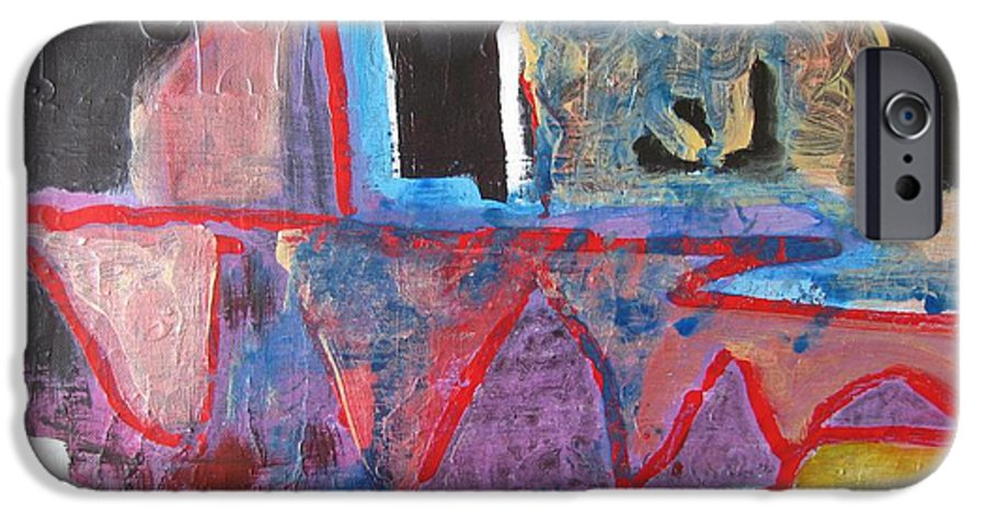 Abstract Paintings IPhone 6s Case featuring the painting Contradiction Of Time by Seon-Jeong Kim