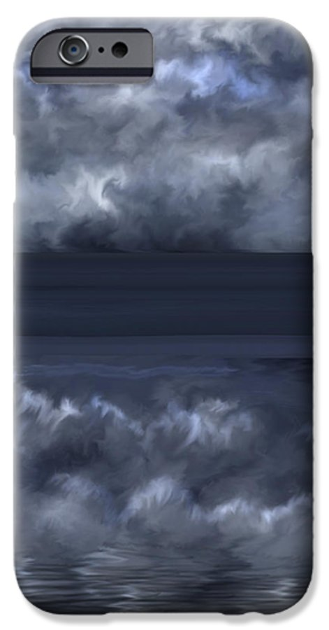 Seascape IPhone 6s Case featuring the painting Convergence Zone by Anne Norskog