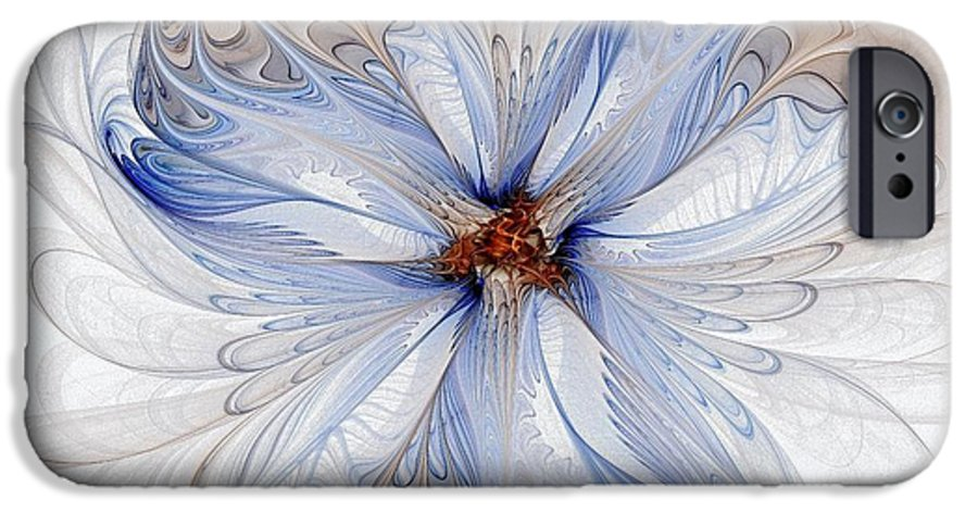 Digital Art IPhone 6s Case featuring the digital art Cornflower Blues by Amanda Moore