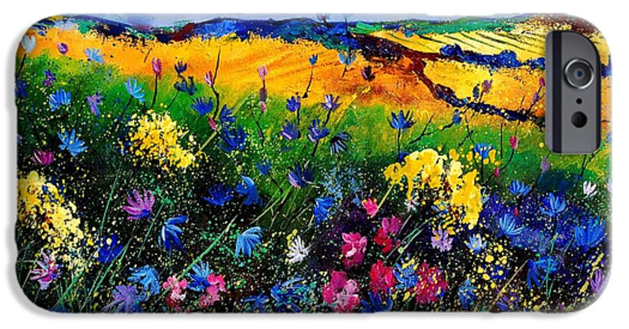 Flowers IPhone 6s Case featuring the painting Cornflowers 680808 by Pol Ledent