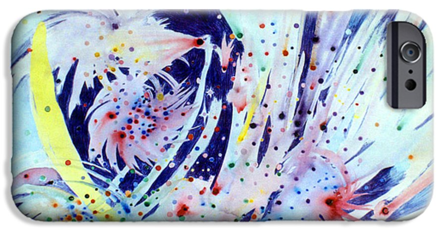 Abstract IPhone 6s Case featuring the painting Cosmic Candy by Steve Karol