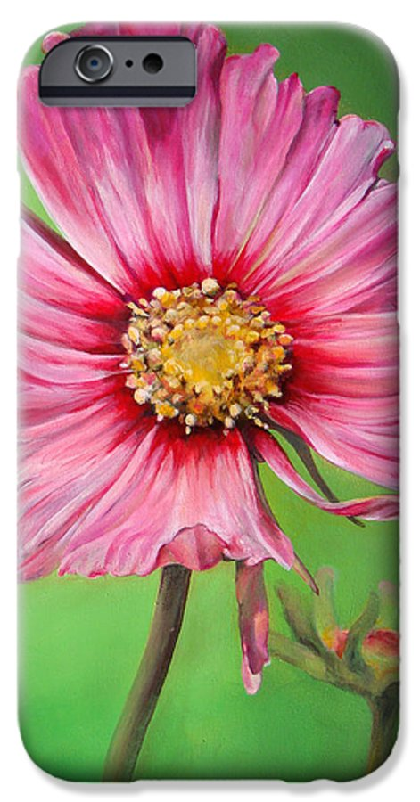 Floral Painting IPhone 6s Case featuring the painting Cosmos by Dolemieux muriel