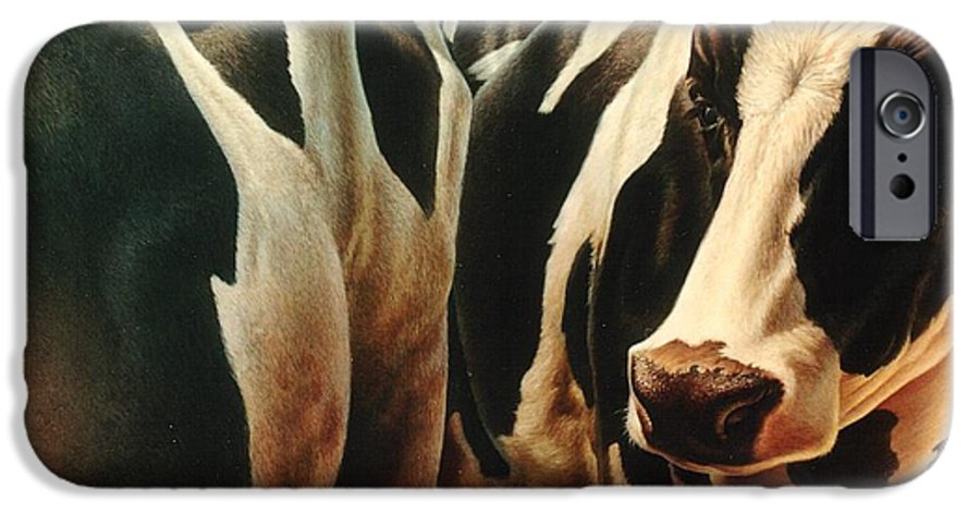 Cows IPhone 6s Case featuring the painting Cows 1 by Hans Droog