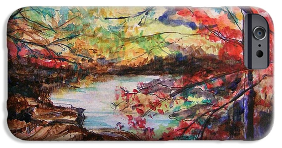 Creek IPhone 6s Case featuring the painting Creek Blue Ridge Mountains by Lizzy Forrester