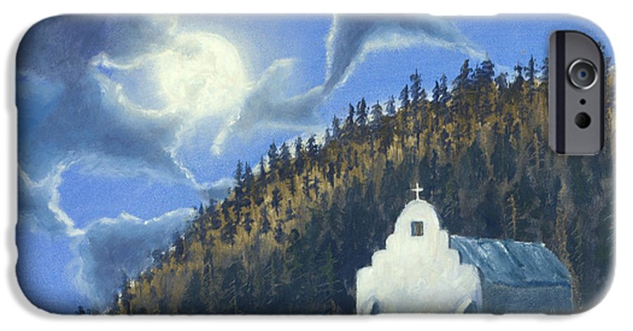Landscape IPhone 6s Case featuring the painting Dancing In The Moonlight by Jerry McElroy
