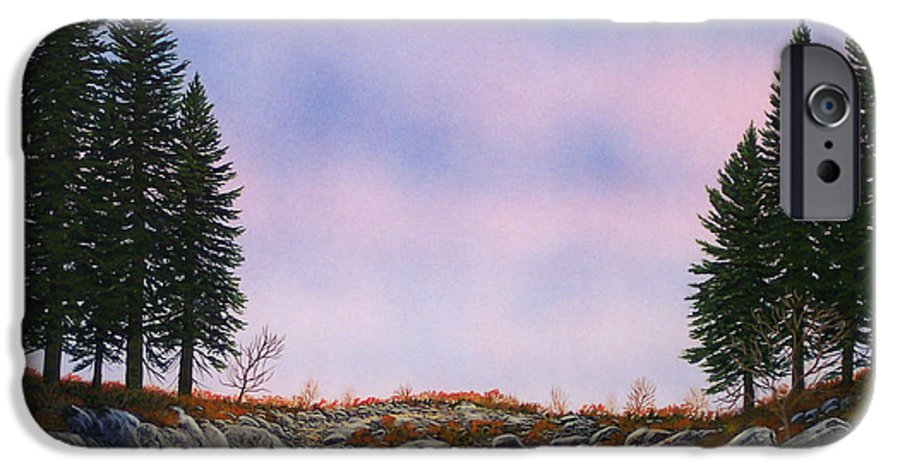 Landscape IPhone 6s Case featuring the painting Dawn Pacific Crest Trail by Frank Wilson