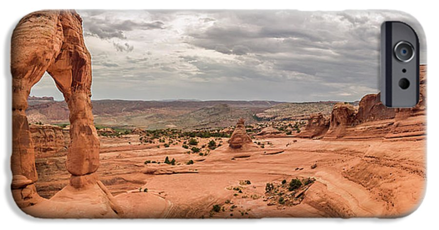 3scape Photos IPhone 6s Case featuring the photograph Delicate Arch Panoramic by Adam Romanowicz