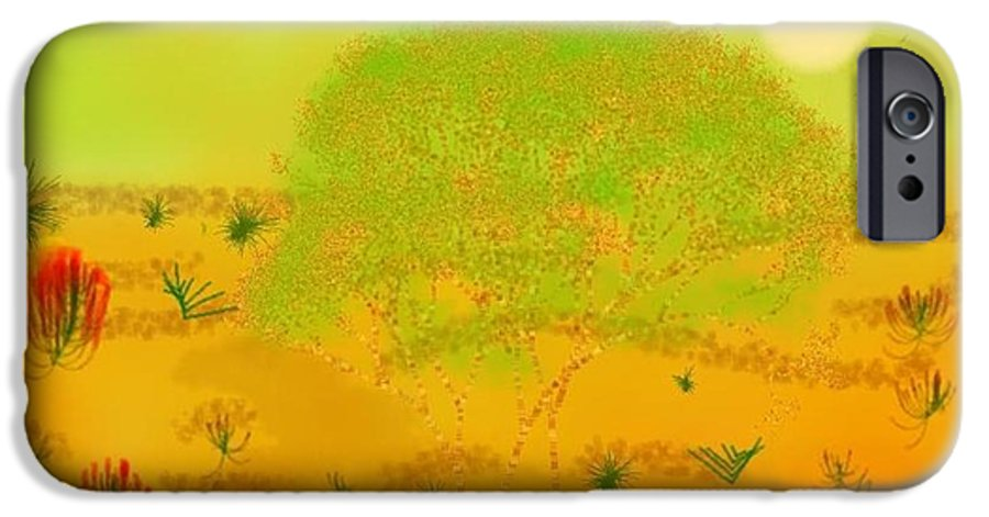 Sky.heat.dust.sun.desert.bush.sand.prickles. Sandy Dunes.rest.silence. IPhone 6s Case featuring the digital art Desert by Dr Loifer Vladimir