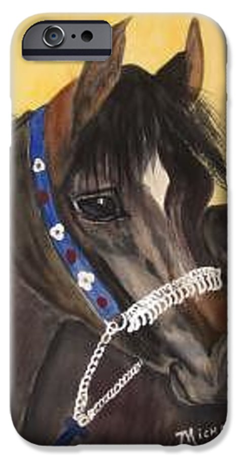 Arabian Horse IPhone 6s Case featuring the painting Desert Dream by Michele Turney
