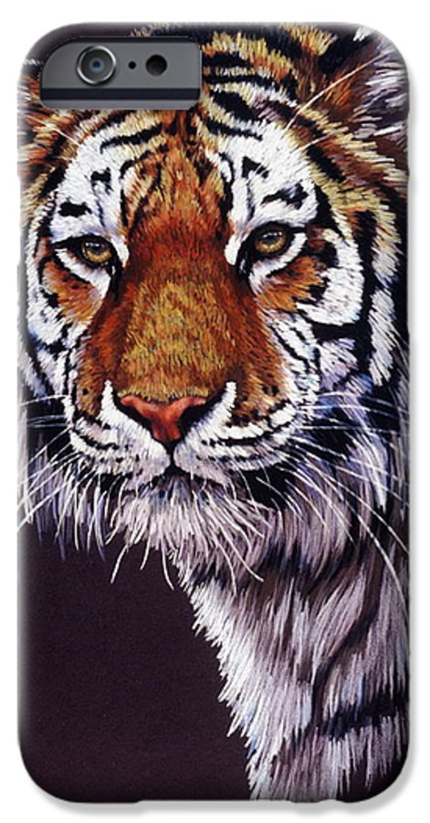 Tiger IPhone 6s Case featuring the drawing Desperado by Barbara Keith