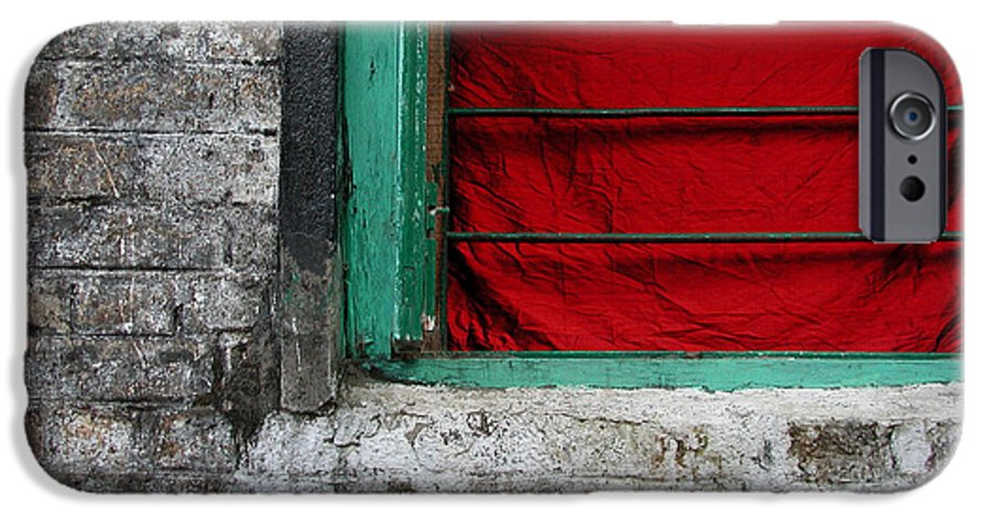 Red IPhone 6s Case featuring the photograph Dharamsala Window by Skip Hunt