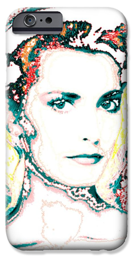 Digital IPhone 6s Case featuring the digital art Digital Self Portrait by Kathleen Sepulveda