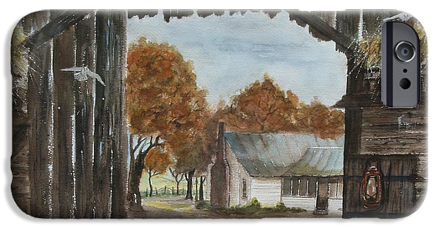 Grandpa And Grandma's Homeplace IPhone 6s Case featuring the painting Down Home by Ben Kiger