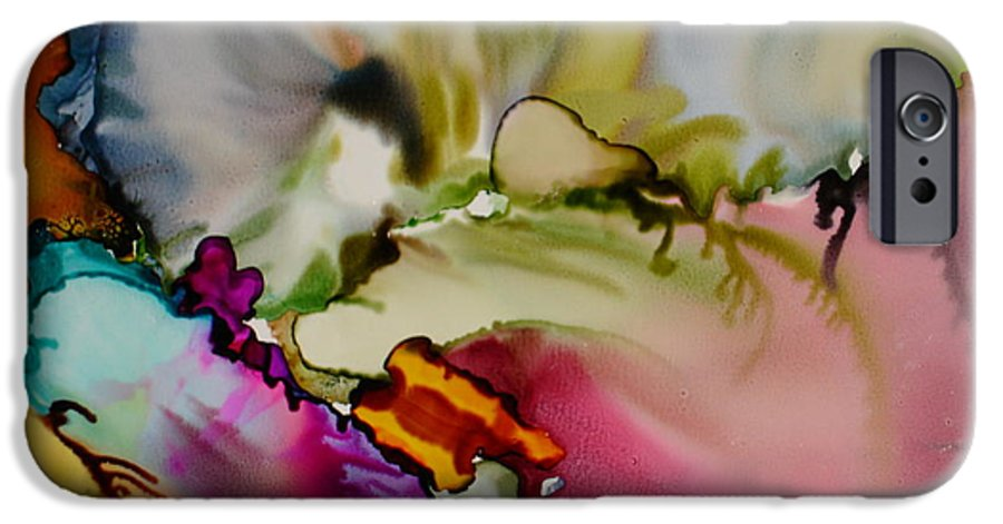 Abstract IPhone 6s Case featuring the painting Dreaming by Susan Kubes