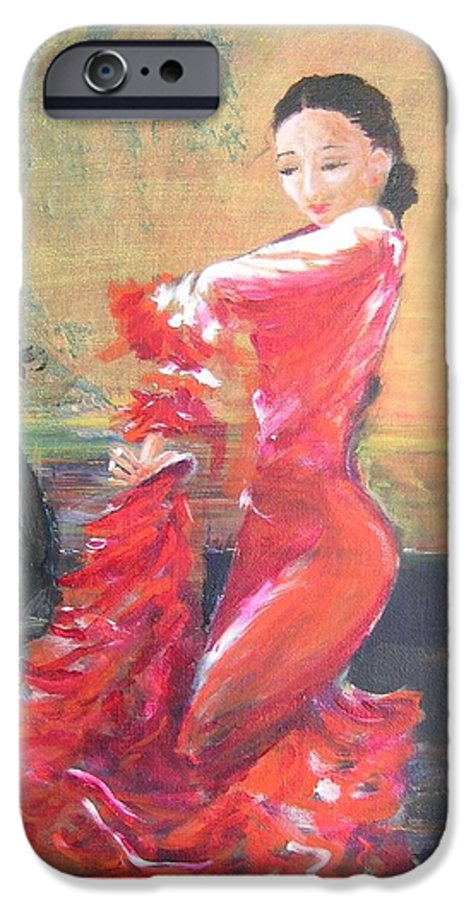 Gypsy Flamenco Dancer. Spanish Dancer IPhone 6s Case featuring the painting Duende by Lizzy Forrester