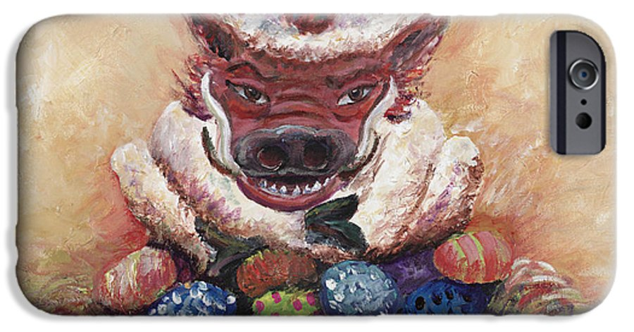 Easter IPhone 6s Case featuring the painting Easter Hog by Nadine Rippelmeyer