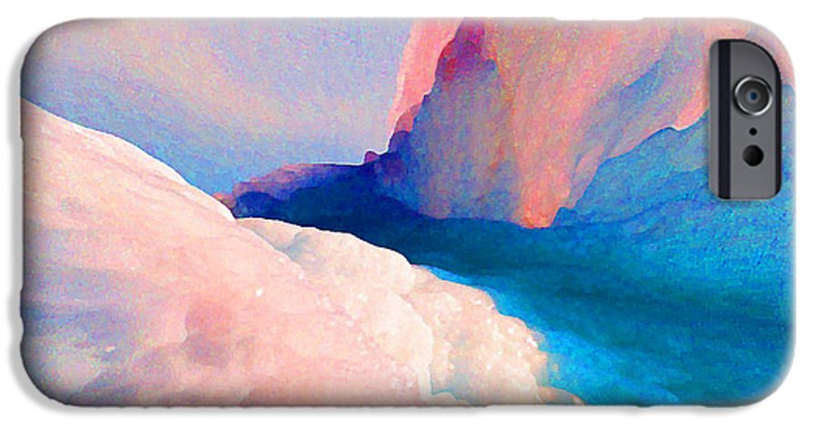 Abstract IPhone 6s Case featuring the photograph Ebb And Flow by Steve Karol