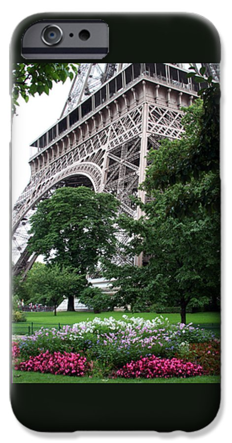 Eiffel IPhone 6s Case featuring the photograph Eiffel Tower Garden by Margie Wildblood