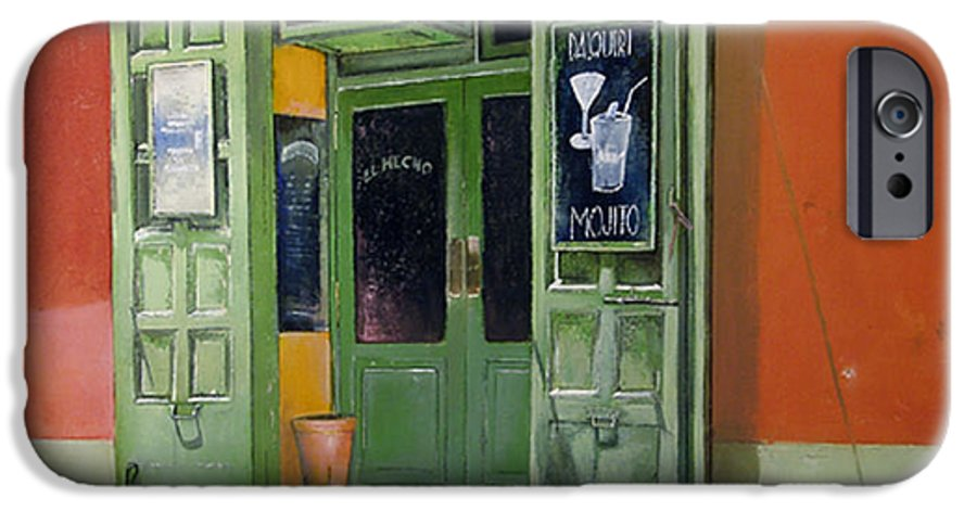 Hecho IPhone 6s Case featuring the painting El Hecho Pub by Tomas Castano