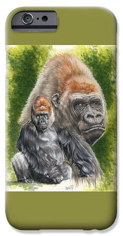 Gorilla IPhone 6s Case featuring the mixed media Eloquent by Barbara Keith