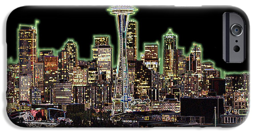 Colorful IPhone 6s Case featuring the photograph Emerald City by Larry Keahey