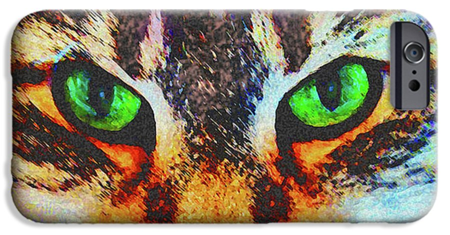 Emerald Gaze IPhone 6s Case featuring the digital art Emerald Gaze by John Beck