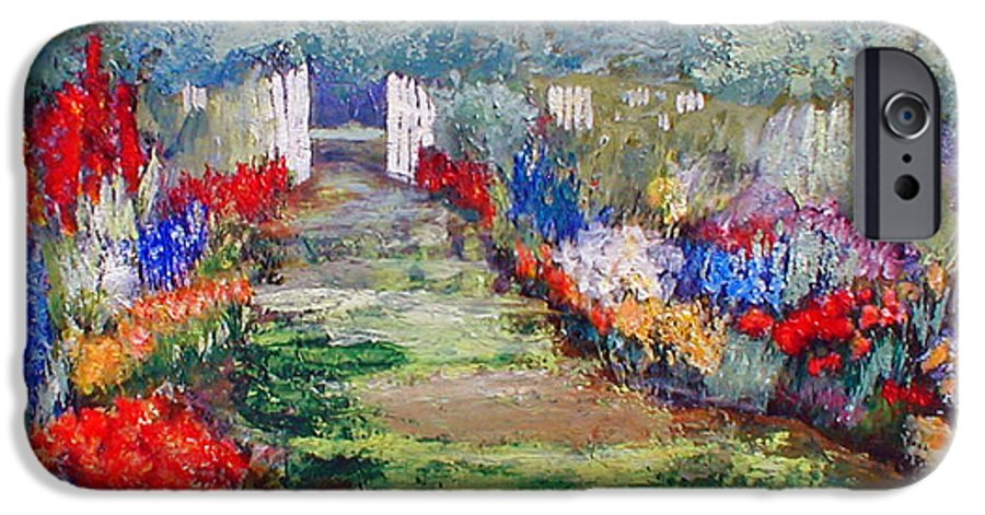 Landscape IPhone 6s Case featuring the painting Enter His Gates by Gail Kirtz
