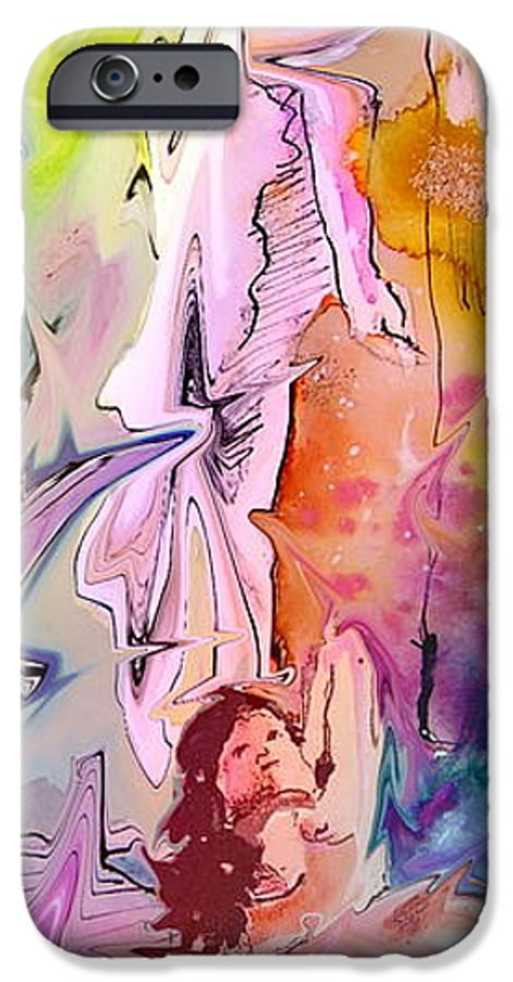 Miki IPhone 6s Case featuring the painting Eroscape 09 1 by Miki De Goodaboom