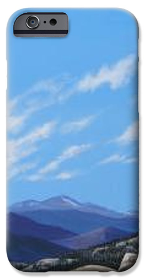 Estes Park IPhone 6s Case featuring the painting Estes Overlook by Hunter Jay