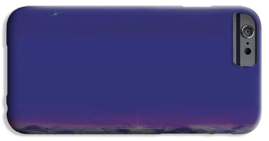 Late Evening.violet Dark Sky.rest.little Stars.last Ray Of Sun.sea.waves.silence. Birds.quiet. IPhone 6s Case featuring the digital art Evening.birds by Dr Loifer Vladimir