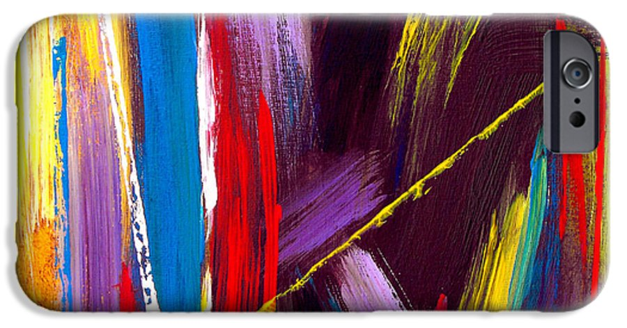 Abstract IPhone 6s Case featuring the painting Express Yourself by Ruth Palmer