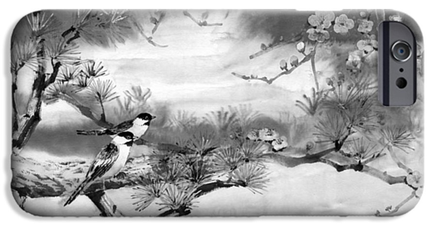 Chinese Painting IPhone 6s Case featuring the painting Expressions Of Spring by Eileen Fong