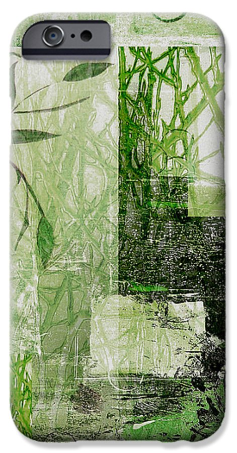 Abstract IPhone 6s Case featuring the mixed media Faded Floral by Ruth Palmer