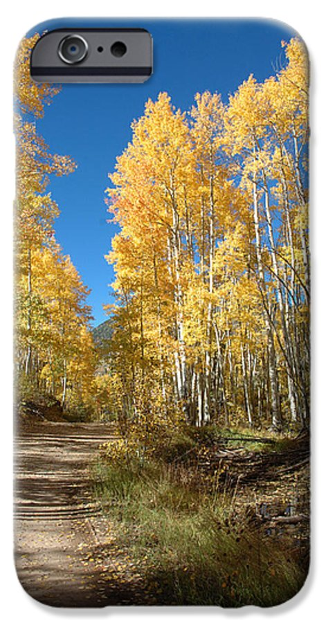 Landscape IPhone 6s Case featuring the photograph Fall Road by Jerry McElroy