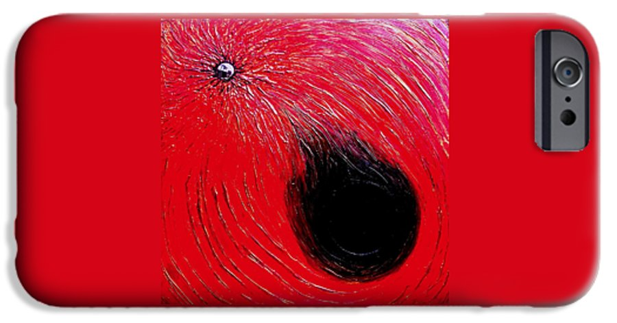 Abstract IPhone 6s Case featuring the painting Falling In To Passion by Ian MacDonald