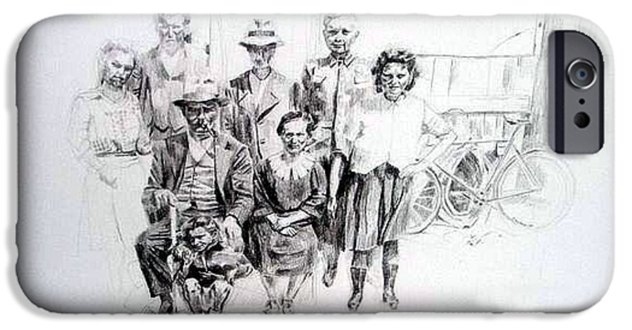 Drawing IPhone 6s Case featuring the painting Family by Nel Kwiatkowska