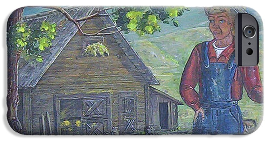 Barn IPhone 6s Case featuring the painting Farm Work II by Phyllis Mae Richardson Fisher