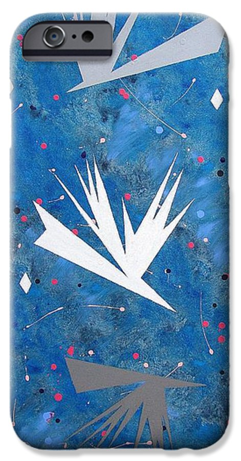 Birds And Diamond Stars IPhone 6s Case featuring the painting Feeding Frenzy by J R Seymour