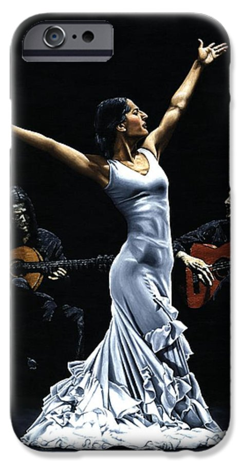 Flamenco IPhone 6s Case featuring the painting Finale Del Funcionamiento Del Flamenco by Richard Young